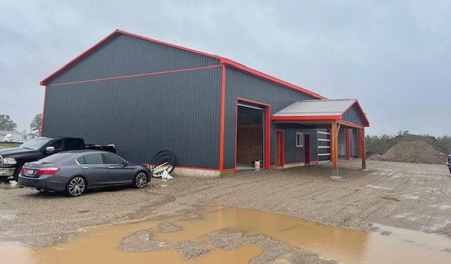 RT Horizontal's new building under construction in Fergus.